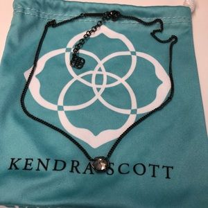 NWOT Kendra Scott Gunmetal Mabel necklace